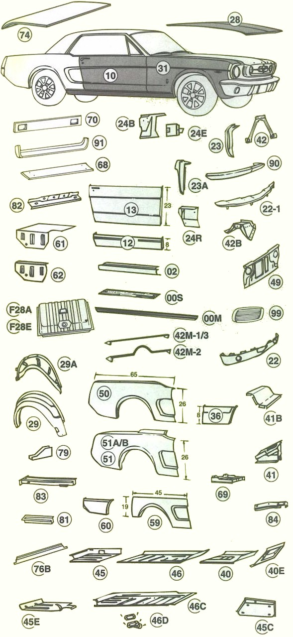 1966 ford mustang body parts diagram  1966  free engine