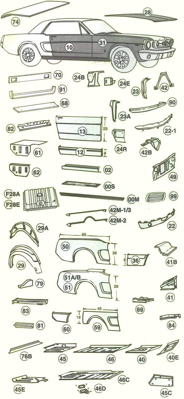 1966 Mustang Parts >> 1965 1966 Ford Mustang Parts