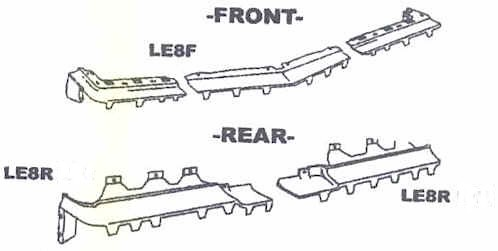 New Body Bumper Fillers Buick LeSabre Complete Front & Rear Kit