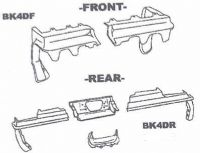 New Body Bumper Fillers Buick Regal 4DRComplete Front and Rear Kit